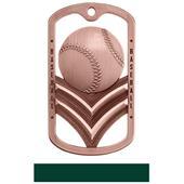 Hasty Awards Dogtag Baseball Medal M-785C