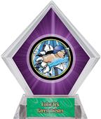 Hasty Awards Purple Diamond Swimming Ice Trophy