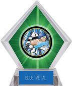 Hasty Awards Green Diamond Swimming Ice Trophy