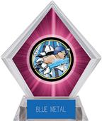 Hasty Awards Pink Diamond Swimming Ice Trophy