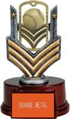 "Hasty Awards 6"" Baseball Dog Tag Trophy"