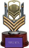 "Hasty Awards 6"" Football Dog Tag Trophy"