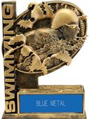 """Hasty Awards 6"""" Bust-Out Swim Resin Trophy"""