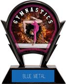 """Hasty Awards 6"""" Stealth Female Gymnastics Trophy"""