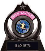 """Eclipse 6"""" Gymnastics Blue Burst-Out Trophy"""
