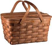 Picnic Time Prairie Picnic Woven Wood Basket