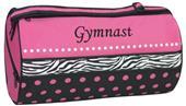 Sassi Designs Dots & Zebra Print Gymnastics Bag