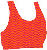 Boxercraft Support Your Team Chevron Sports Bras