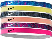 NIKE Printed Headbands (assorted 6pk)
