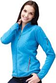 Landway Womens Ashton Sweater-Knit Fleece Jacket