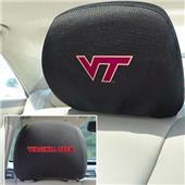 Fan Mats Virginia Tech Head Rest Covers