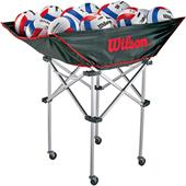 Wilson Stand-Up Volleyball Cart w/ Travel Bag