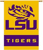 "COLLEGIATE LSU Tigers 2-Sided 28"" x 40"" Banners"
