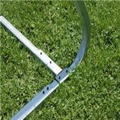 """Semi-Permanent 4"""" Round Aluminum Soccer Goals"""