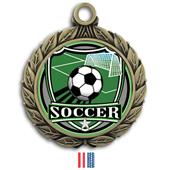 "Hasty Awards 2 3/4"" Soccer Shield Insert Medals"