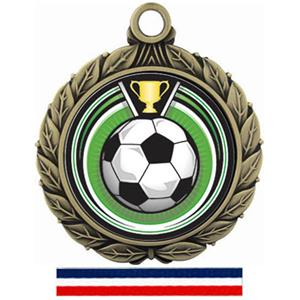 GOLD MEDAL/(RWB) RED WHITE & BLUE RIBBON