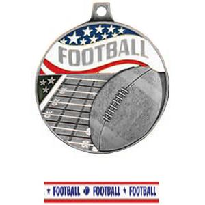 SILVER MEDAL/AMERICANA FOOTBALL RIBBON