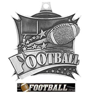 SILVER MEDAL/ULTIMATE FOOTBALL RIBBON