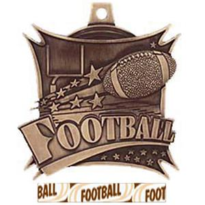BRONZE MEDAL/DELUXE FOOTBALL RIBBON