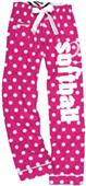 Image Sport Softball Polka Dot Flannel Pants