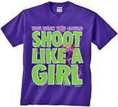 Image Sport Basketball Shoot Like a Girl T-Shirt