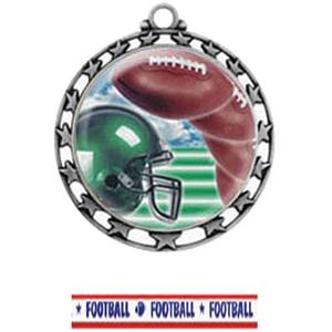 SILVER MEDAL / AMERICANA FOOTBALL RIBBON