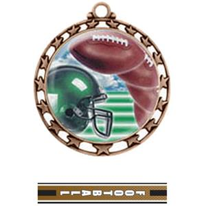 BRONZE MEDAL / TURBO FOOTBALL RIBBON