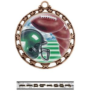 BRONZE MEDAL / INTENSE FOOTBALL RIBBON