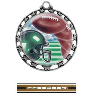 SILVER MEDAL / TURBO FOOTBALL RIBBON