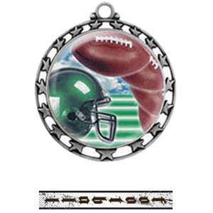 SILVER MEDAL / INTENSE FOOTBALL RIBBON