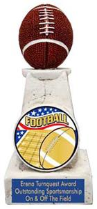 AMERICANA FOOTBALL MYLAR/BLUE METAL PLATE