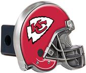 BSI NFL Kansas City Chief Metal Helmet Hitch Cover