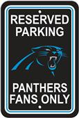 BSI NFL Carolina Panthers Reserved Parking Sign
