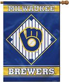 "MLB Milwaukee Brewers 28"" x 40"" House Banner"