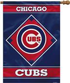 "MLB Chicago Cubs 28"" x 40"" House Banner"