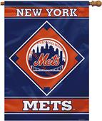 "MLB New York Mets 28"" x 40"" House Banner"