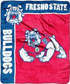 NCAA Fresno St School Spirit Raschel Throw