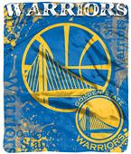Northwest NBA Warriors Raschel Dropdown Throw