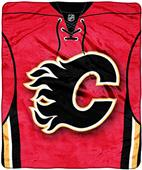 Northwest NHL Flames Raschel Jersey Plush Throw