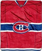 Northwest NHL Canadiens Raschel Jersey Plush Throw
