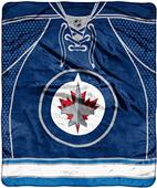 Northwest NHL Winnipeg Raschel Jersey Plush Throw