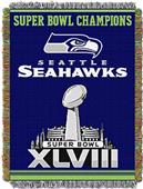 NFL Seahawks Super Bowl XLVIII Commemorative Throw