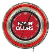 "Holland Louisiana-Lafayette 15"" Neon Logo Clock"