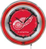 """Holland NHL Detroit Red Wings 19"""" Neon Logo Clock"""