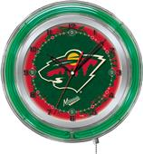 "Holland NHL Minnesota Wild 19"" Neon Logo Clock"