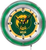 "Holland Baylor University Neon 19"" Clock"