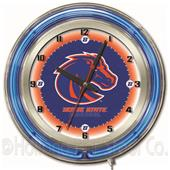 "Holland Boise State University Neon 19"" Clock"