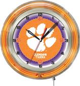 "Holland Clemson Tigers NCAA Neon 19"" Clock"