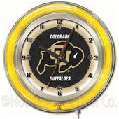 "Holland University of Colorado Neon 19"" Clock"