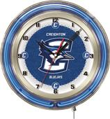 "Holland Creighton University Neon 19"" Clock"